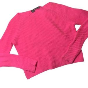 360Cashmere Cropped Scotti Sweater Electric Pink S